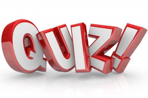 The word Quiz in red 3D letters to illustrate an exam, evaluation or assessment to measure your knowledge or expertise
